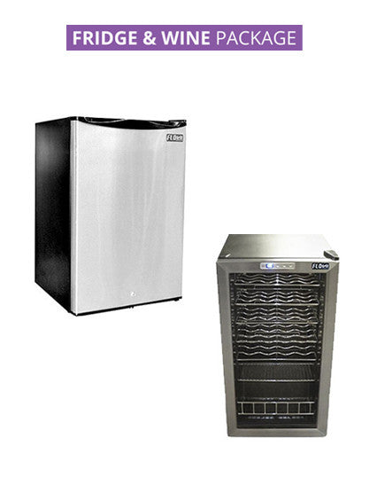 FLO FRIDGE & WINE FRIDGE Package