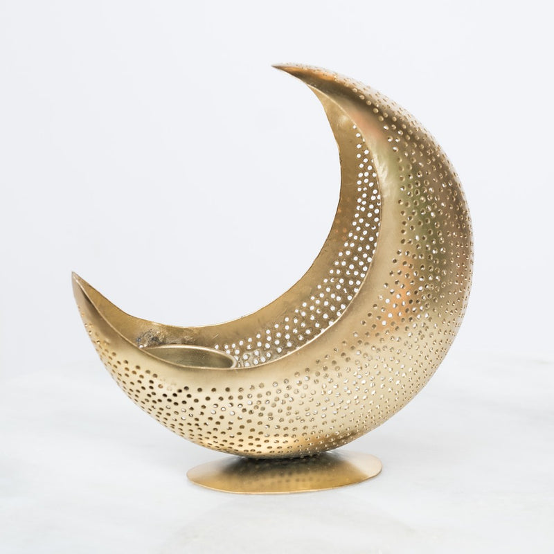 "Home Accessoire Candle Holder ""Moon"" I gold"
