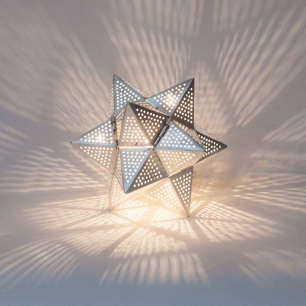 "Home Accessoire Tischlampe ""Stardust"" I silber"