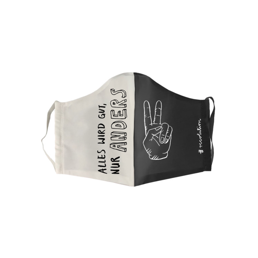 "Face Mask ""Alles wird gut"" I black&white"