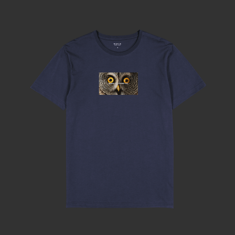 "T-Shirt ""Stare"" I dark blue"