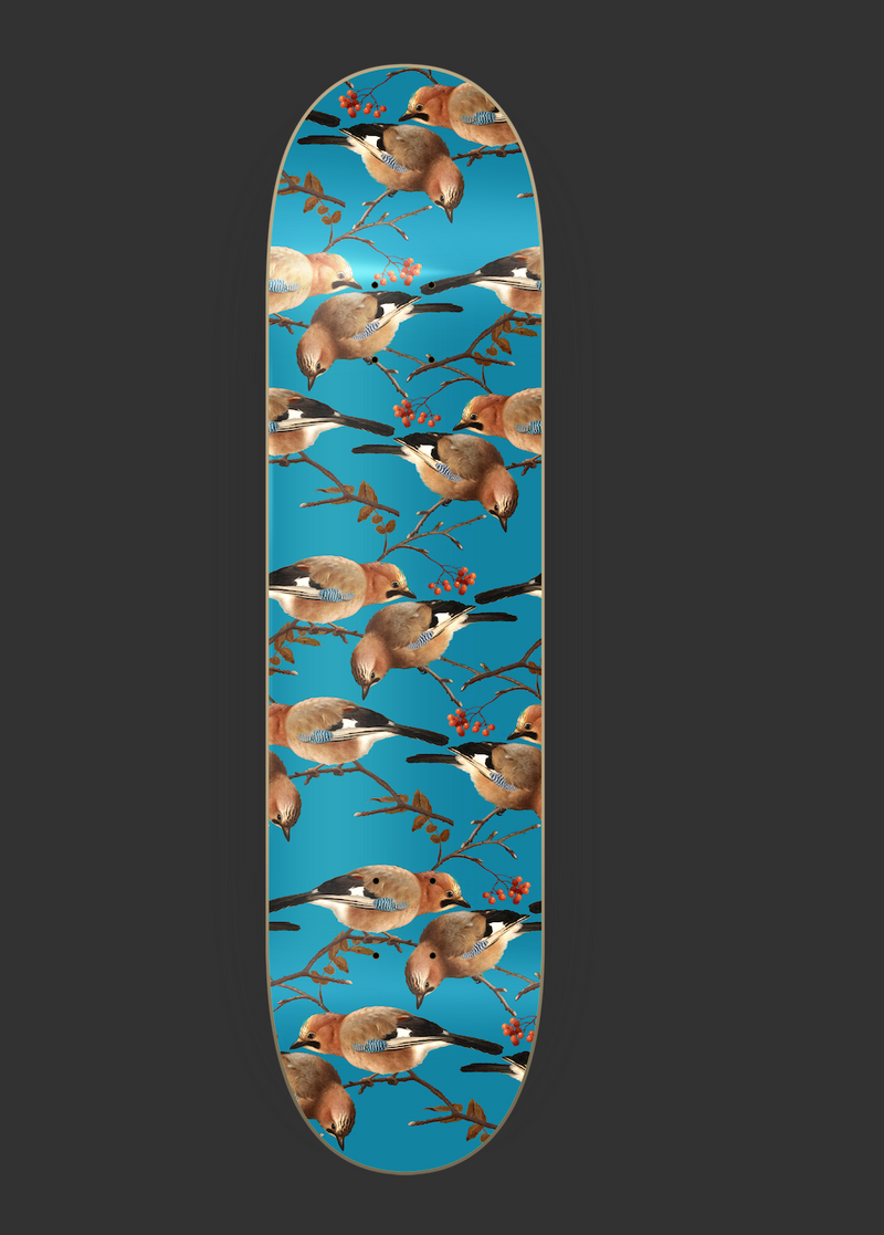 "Skateboard Deck ""Jays"" I blue"