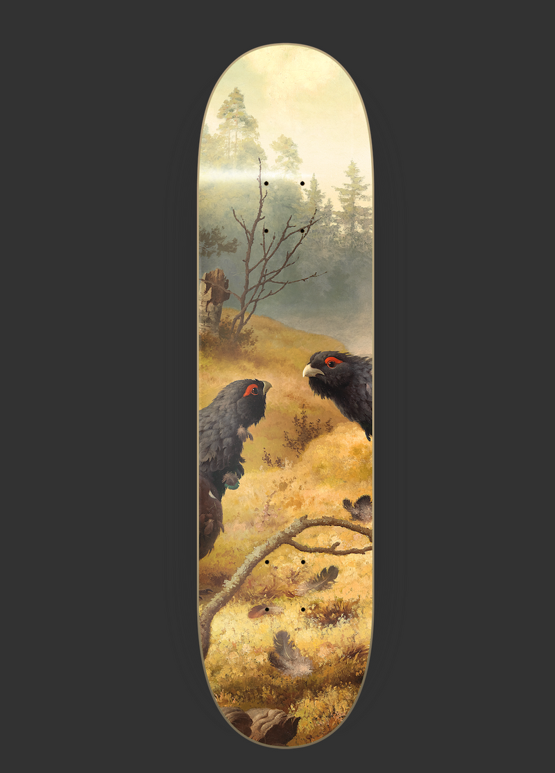 "Skateboard Deck ""Birds"" I birds"