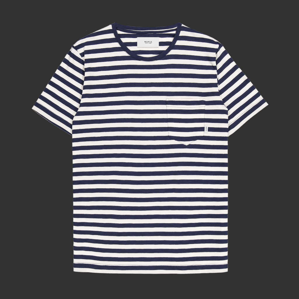 "T-Shirt ""Verkstad"" I blue striped"
