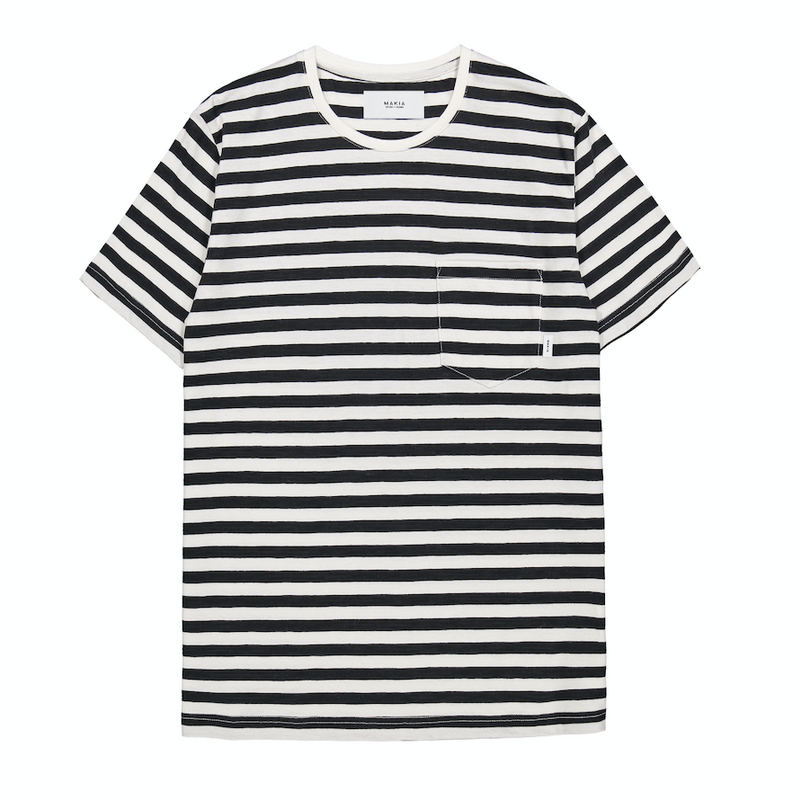 "T-Shirt ""Verkstad"" I black striped"