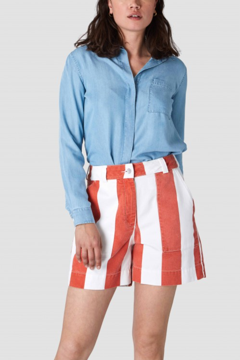 "Shorts ""Bangja"" I orange burnt stripes"
