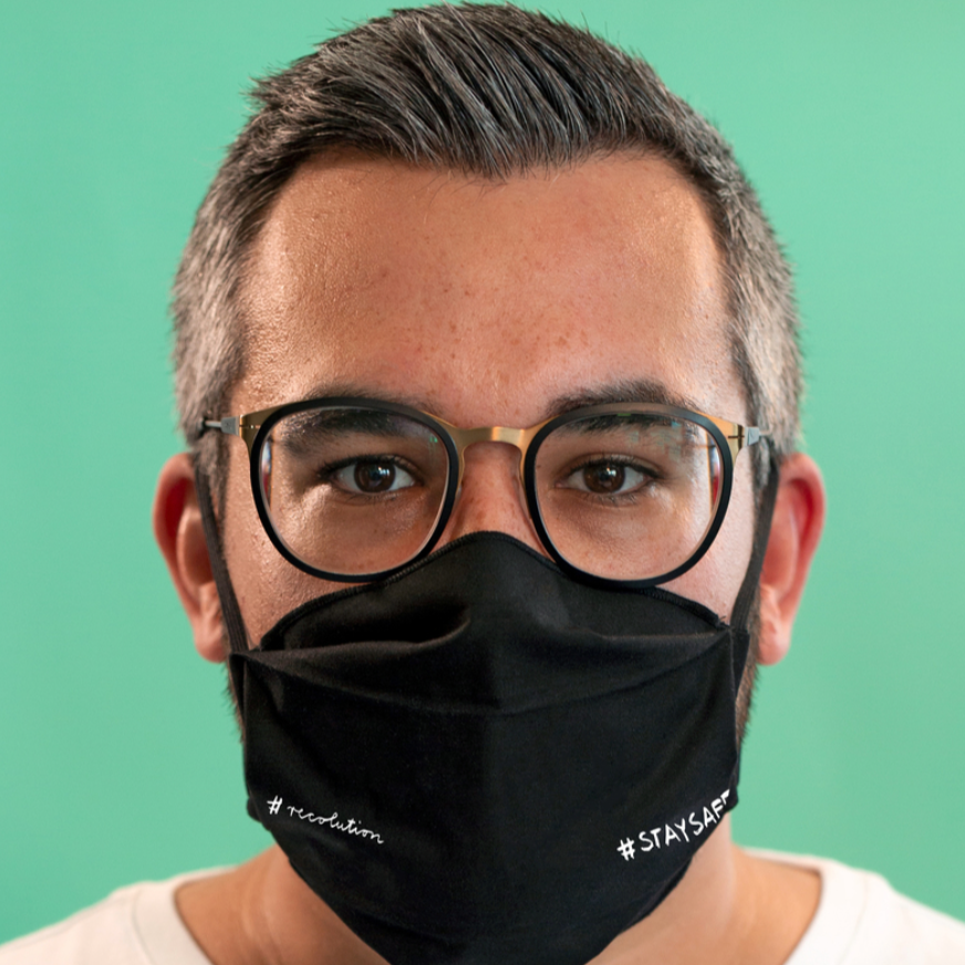 "Face Mask ""Stay Safe"" I black"