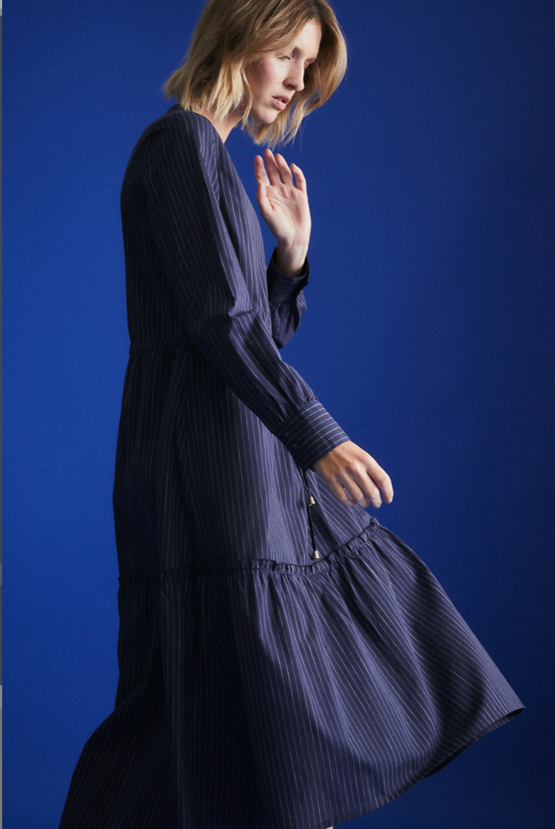 "Kleid ""Volant"" I blue striped"