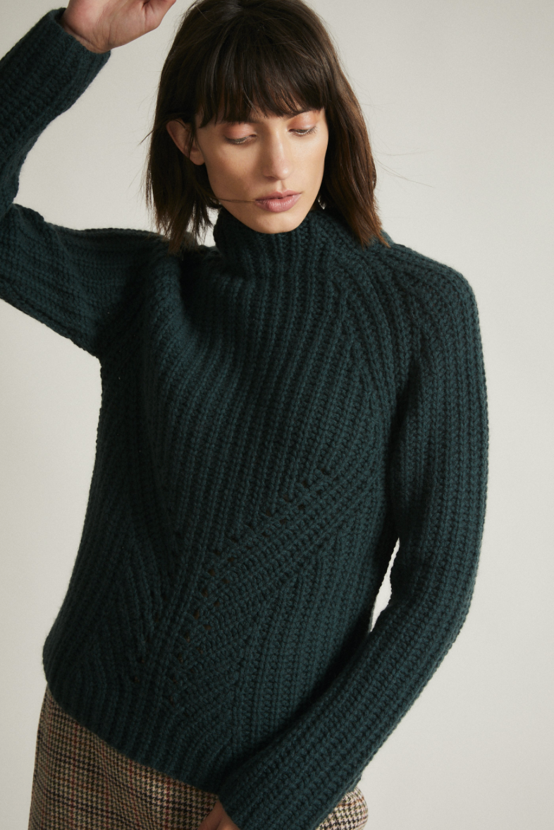"Pullover ""Rippen"" I forest"