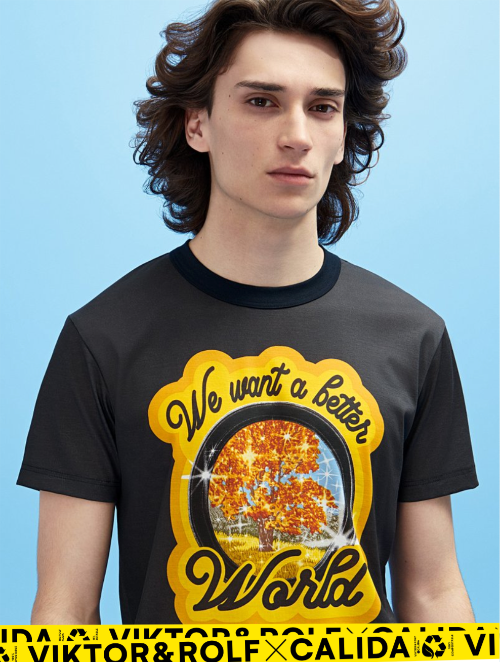 "T-Shirt ""We want a better World"" I black"