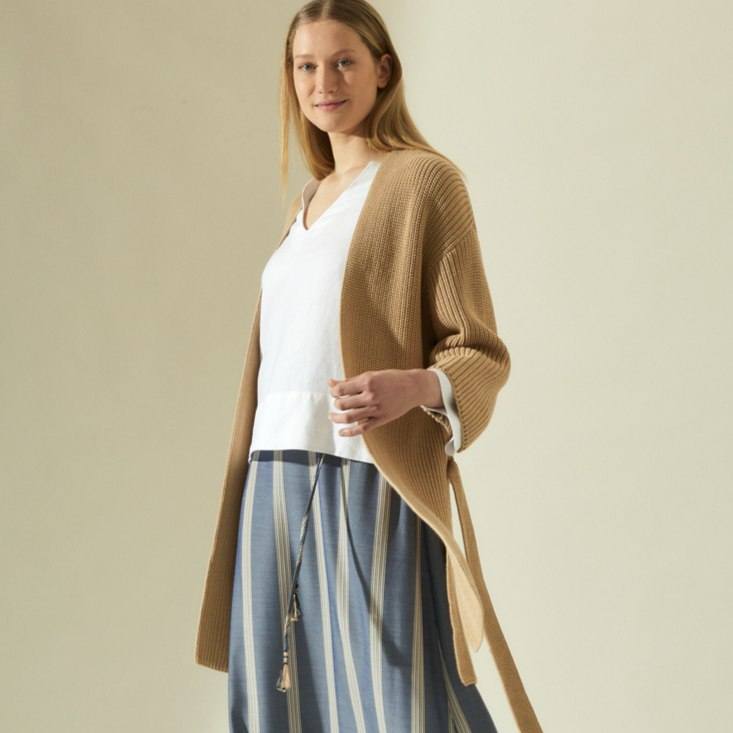 "Cardigan ""Long"" I natural melange"