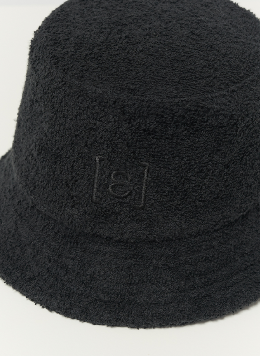 "Bucket Hat ""Frotté"" I black"