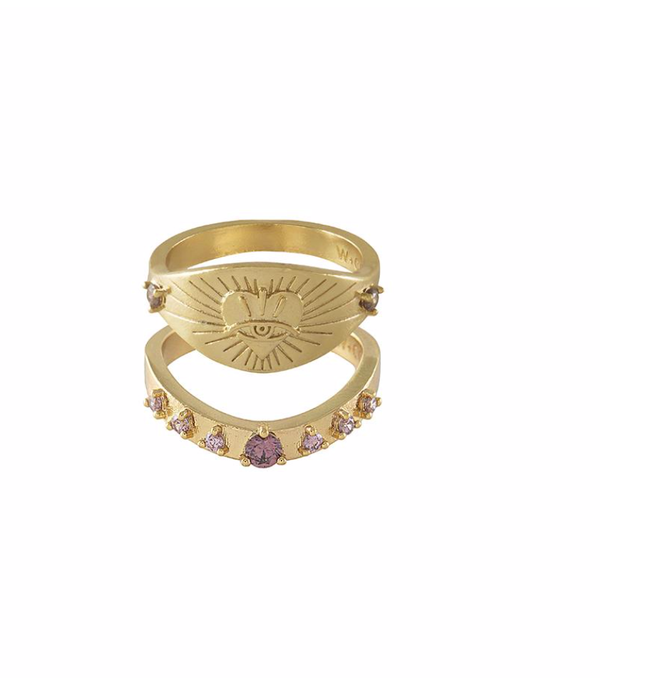 "Wild at Heart ""Harlow Ring Set"" I gold"