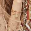 "Wild at Heart ""Harlow Locket Armband"" I gold"