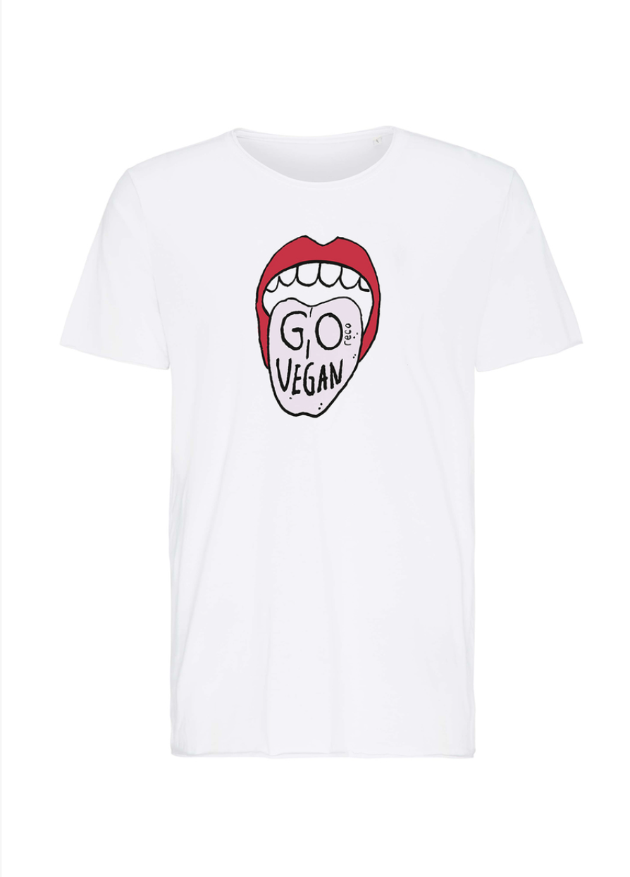 "T-Shirt ""Go Vegan"" I white"