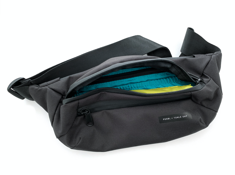 Hip Bag I black-cyan-green