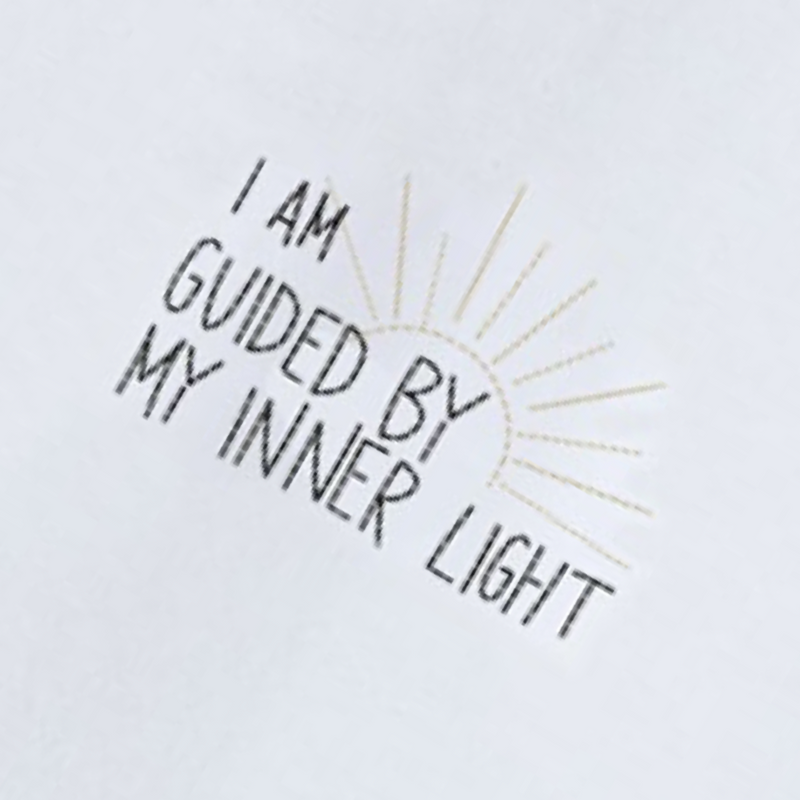 "T-Shirt ""I am guided by my inner Light"" I white"
