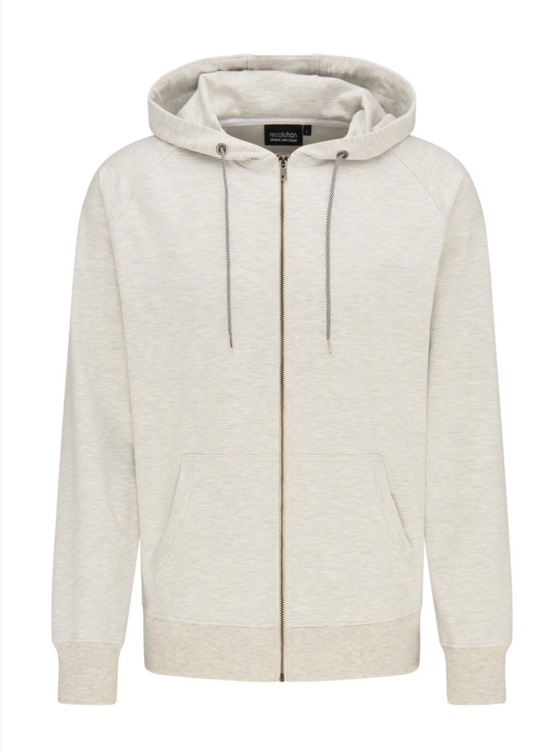 "Sweat Jacke ""Basic"" I grey melange"