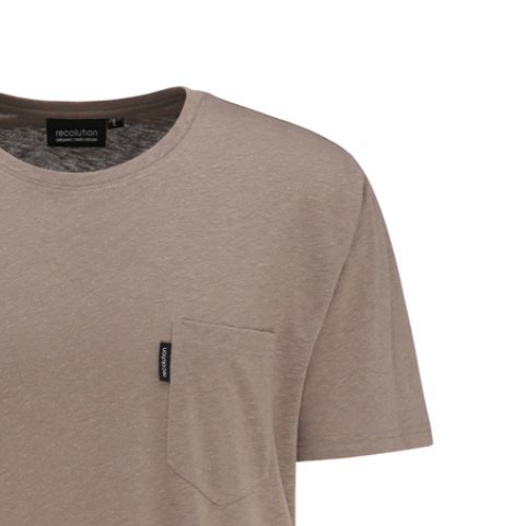 "T-Shirt ""Hemp"" I light brown"