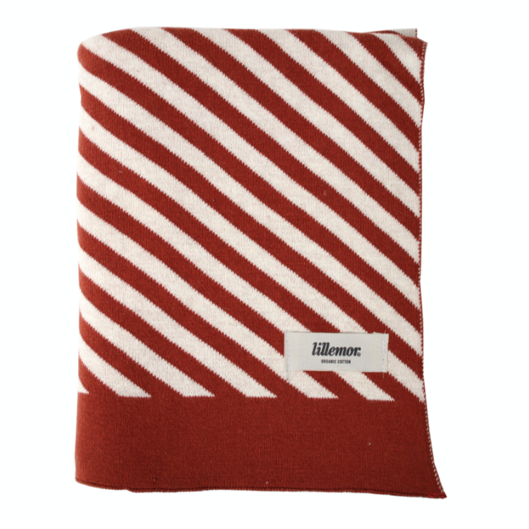 "Blanket ""Stripes"" I rust-red"