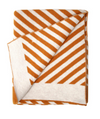 "Blanket ""Stripes"" I brown-orange"