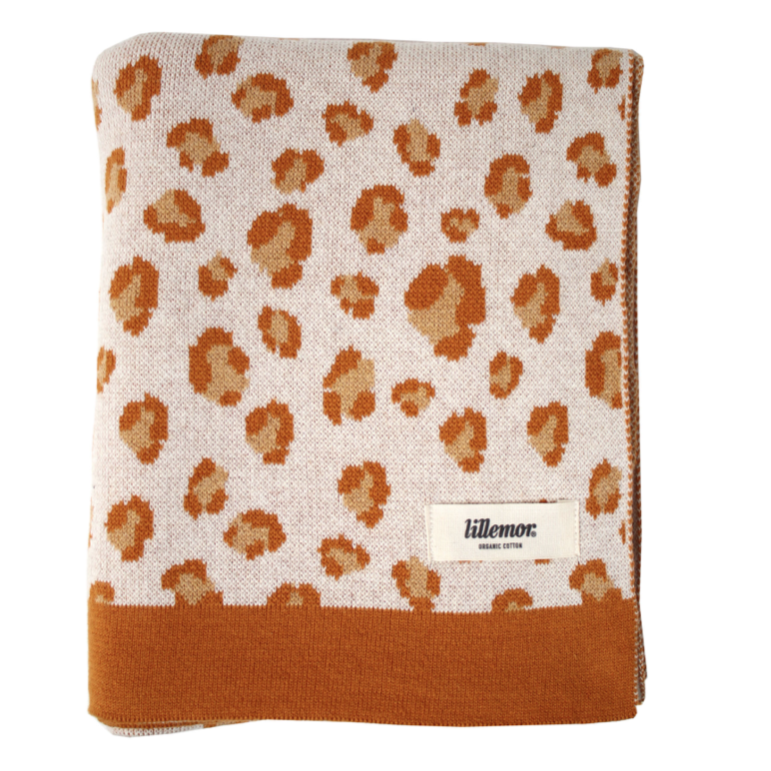 "Blanket ""Leopard"" I brown-orange"