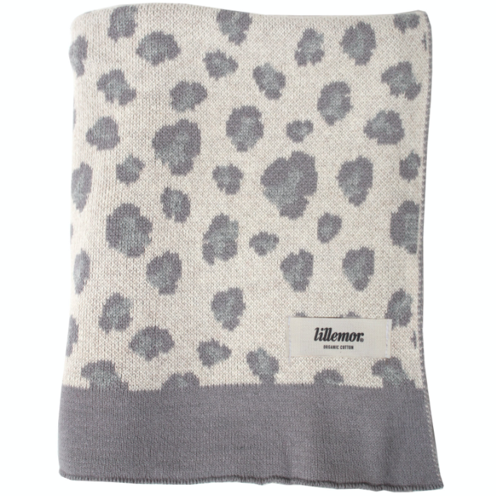 "Blanket ""Leopard"" I grey-white"