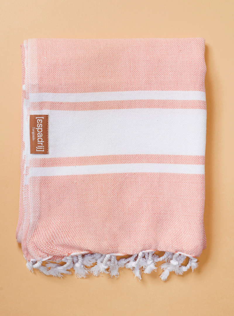"Beach Plaid ""Coral"" I coral"