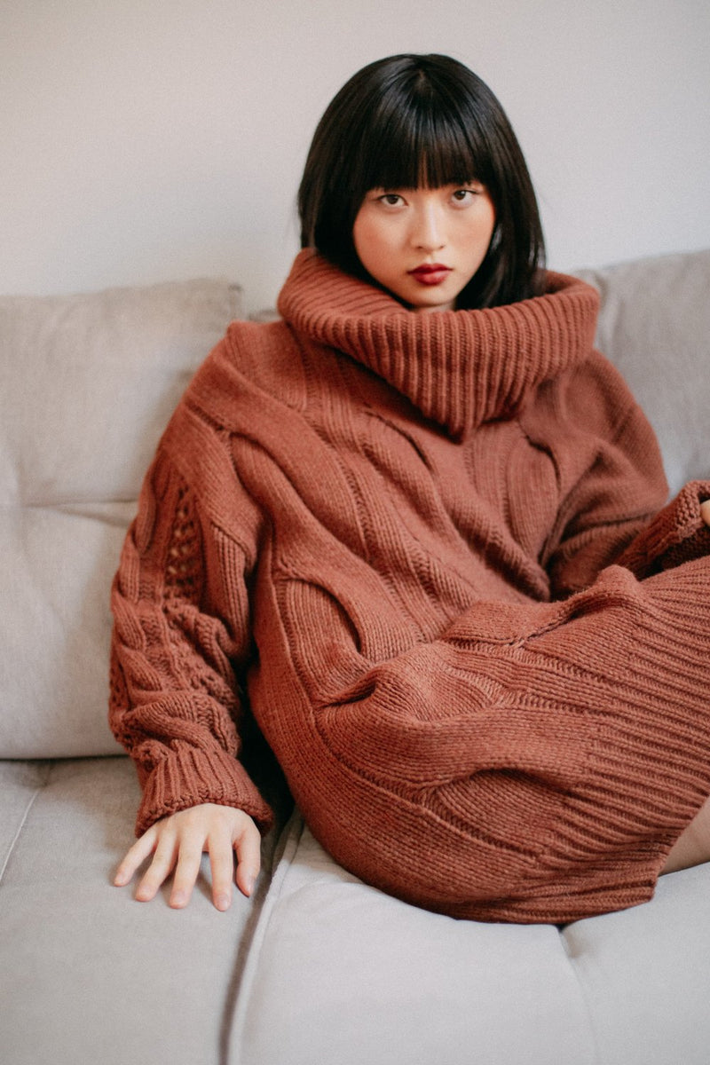 "Pullover ""Tunic"" I rust"