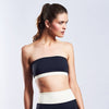 "Swimwear ""Bandeau Top"" I white-black-grey"