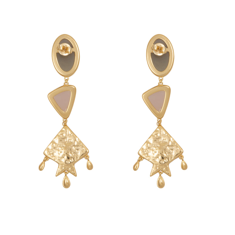 "Wild at Heart ""Rhea Earrings"" I gold"