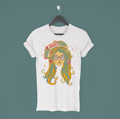 "T-Shirt ""Gypsy Child"" I yellow"