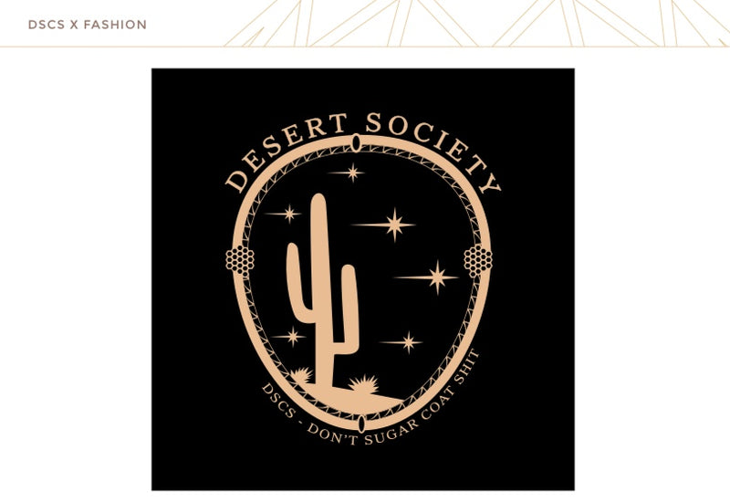 "T-Shirt ""Desert Society"" I black"