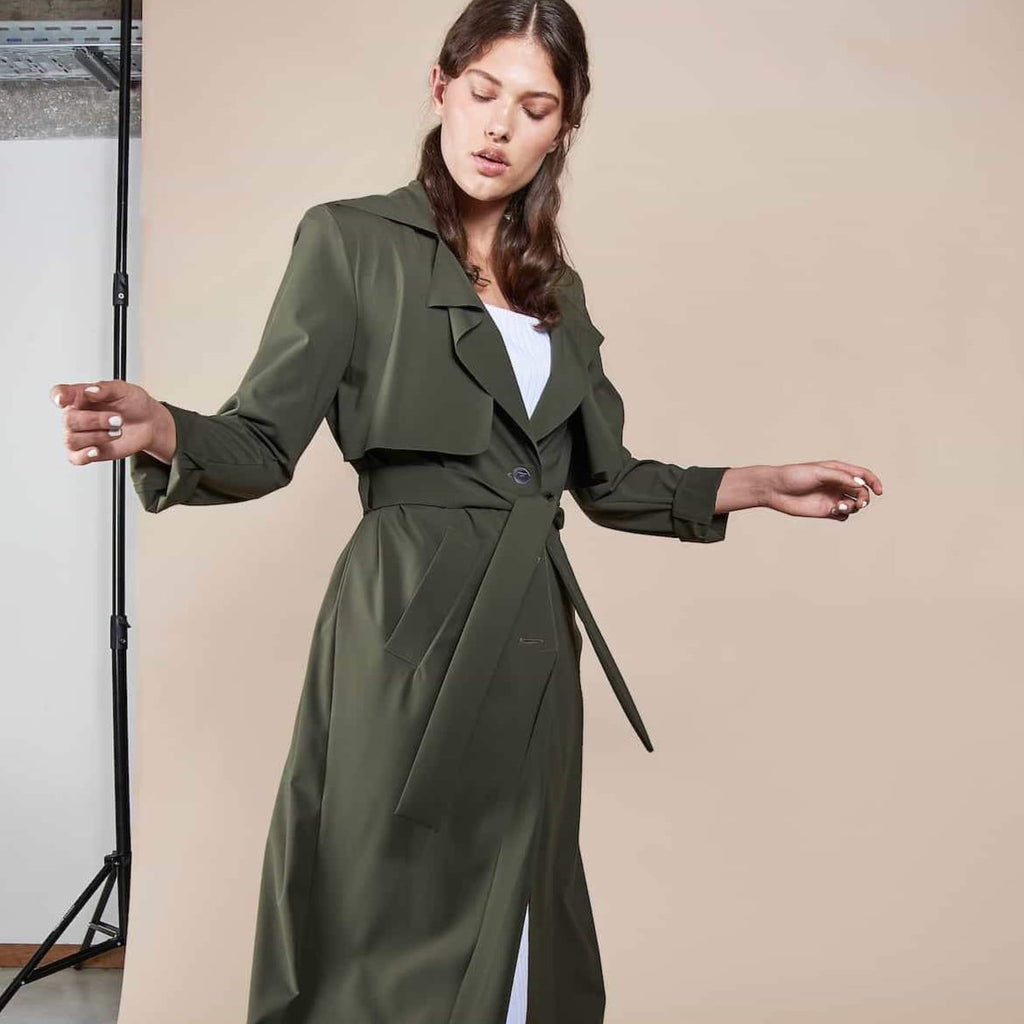 "Trenchcoat ""Lotic"" I olive"