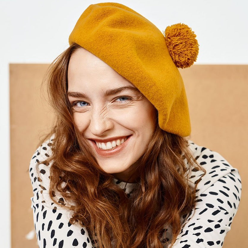 "Beret ""PomPom"" I earth brown"