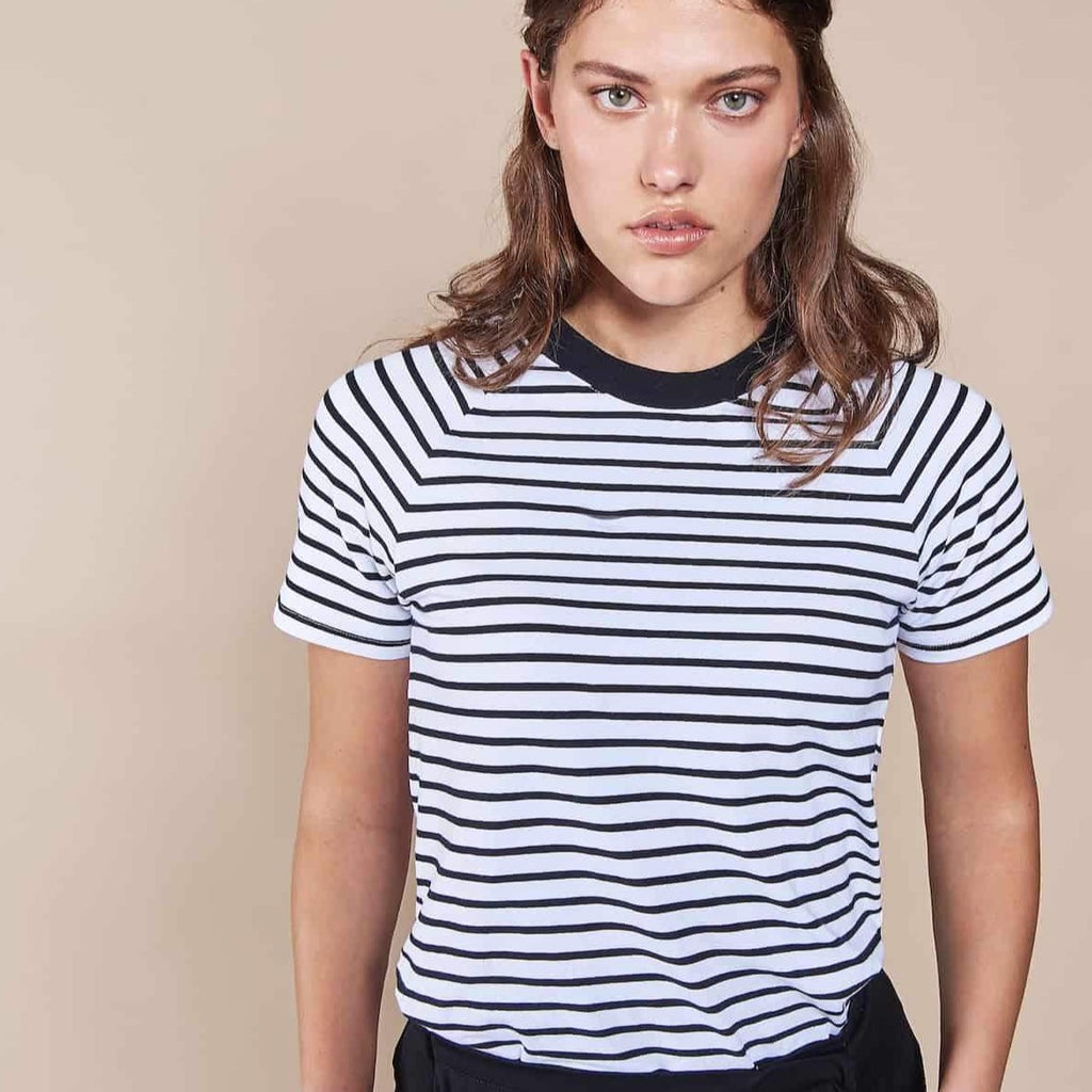 "T-Shirt ""Quito"" I striped black/white"
