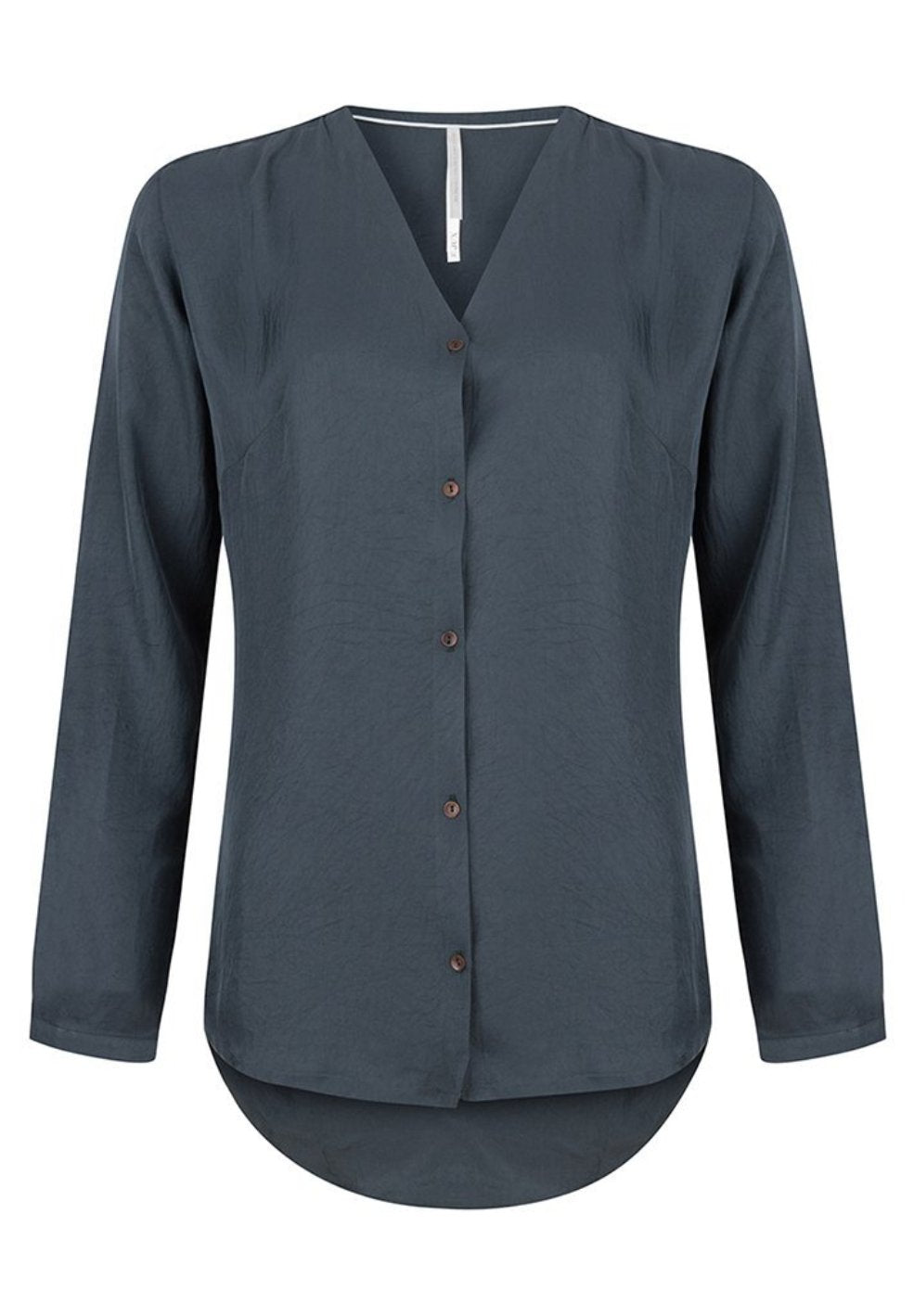 Bluse v-neck | dark navy