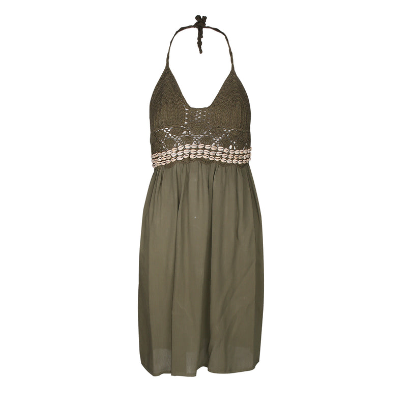 "Kleid ""Sunset Short"" I olive"