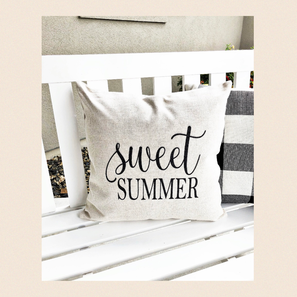 "Kissen ""Sweet Summer"" I white"