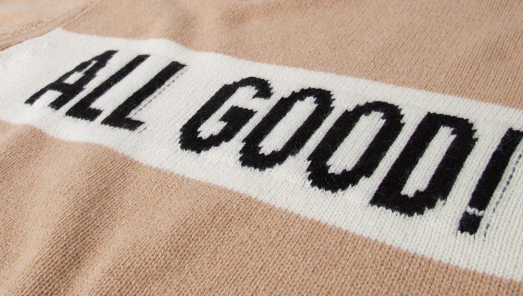 "Pullover ""All Good"" I toffee"