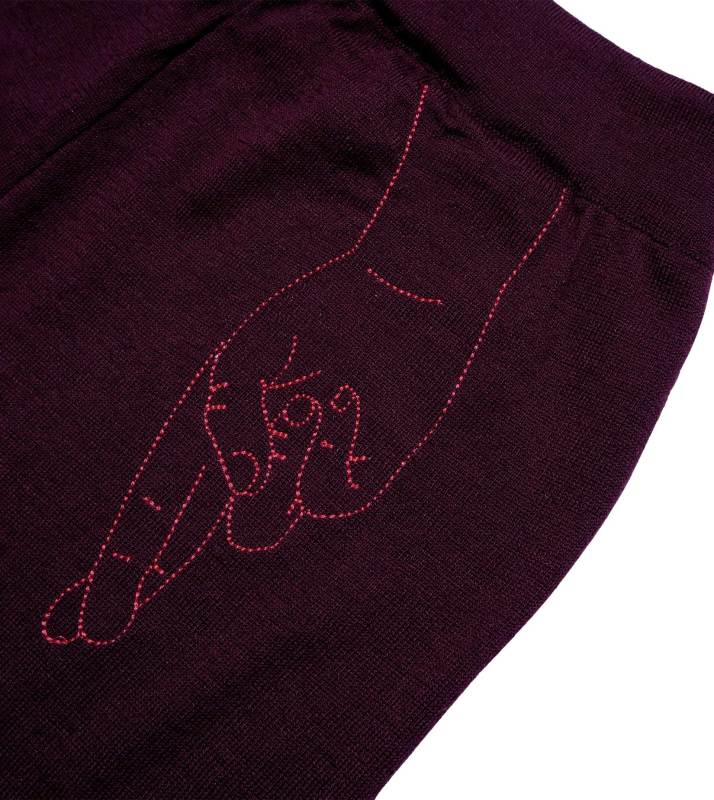 "Trainer Pants ""Kimmie"" I burgundy"