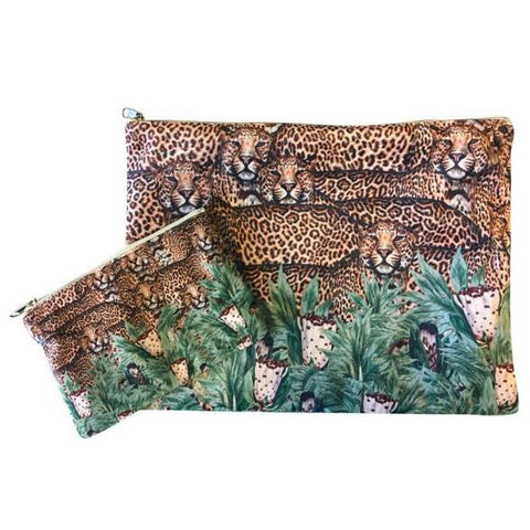 Make Up Bag I flower cheetah
