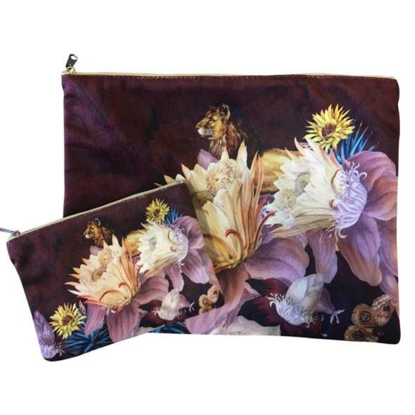 Make Up Bag I flower lion