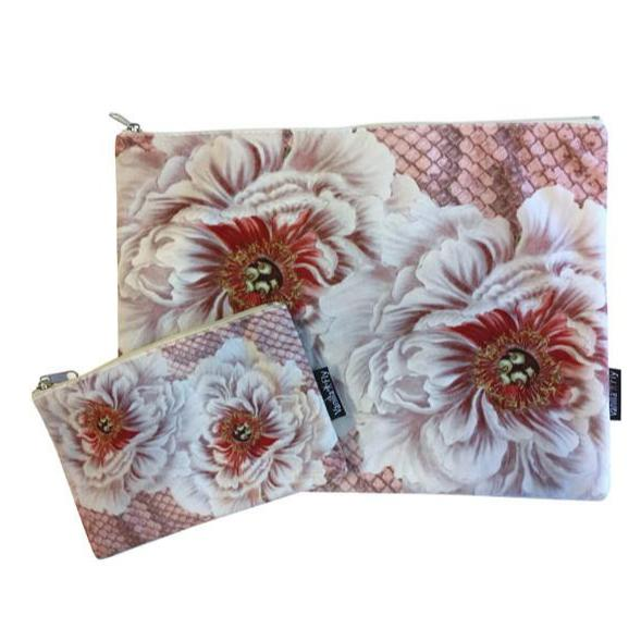 Make Up Bag I pink peonies