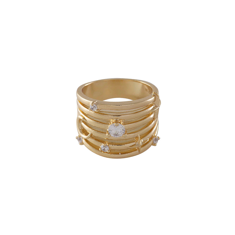 "Wild at Heart ""Astra Ring"" I gold"