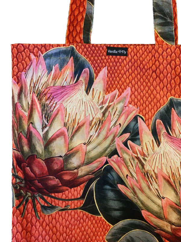 Tote Bag I red protea
