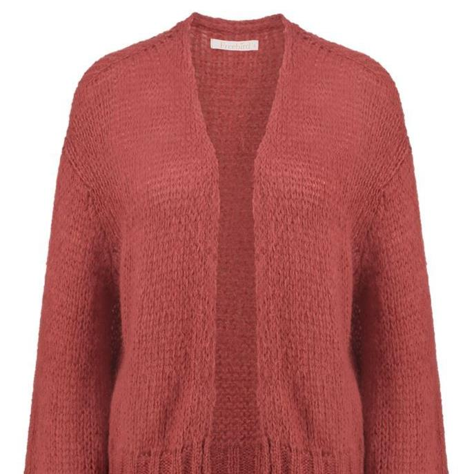 "Strickjacke ""Loua Short"" I coral"