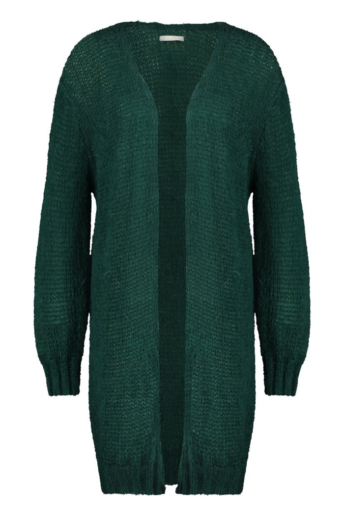 "Strickjacke ""Loua Long"" I smaragd green"
