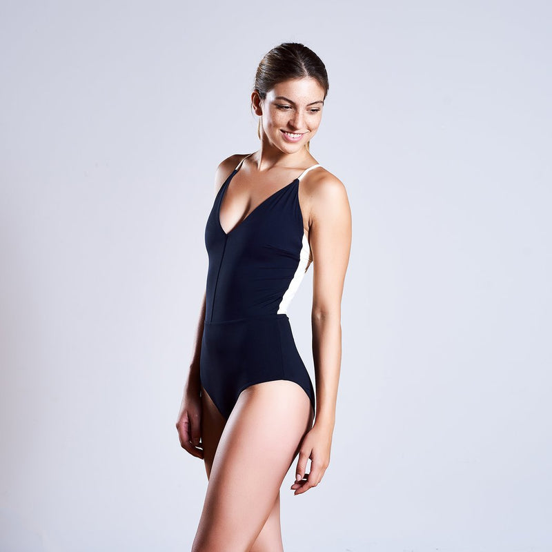 "Swimwear ""Summersuit"" I black-grey-white"