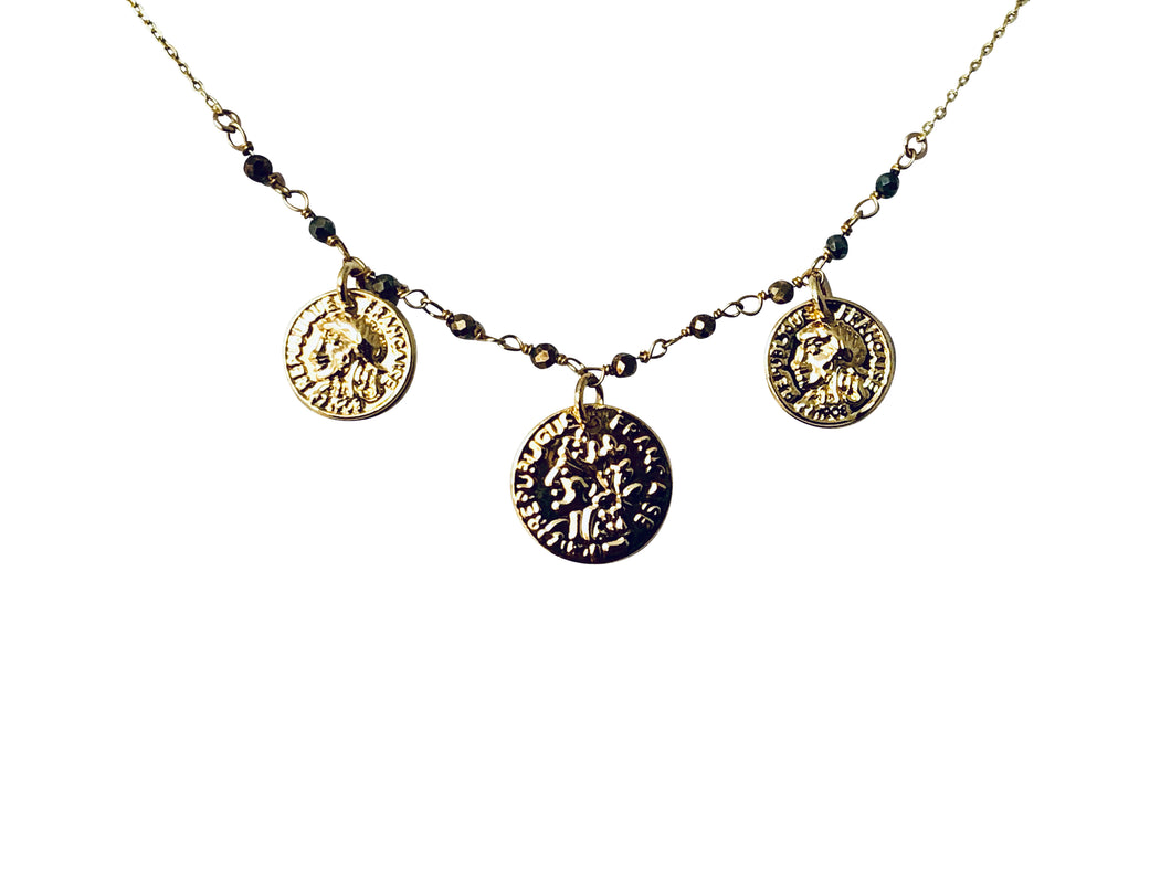 3 Coin pyrite chain nk